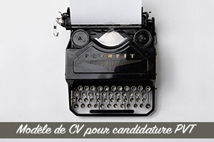 CV candidature PVT